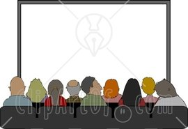 4229-Audience-Sitting-In-Their-Seats-At-The-Movie-Theatre-Clipart