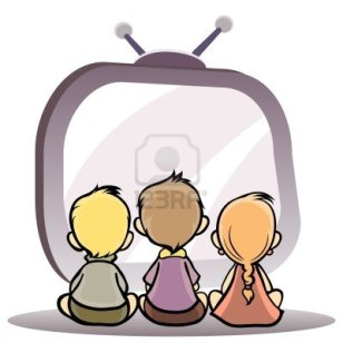 13787057-vector-illustration-of-a-children-watching-tv
