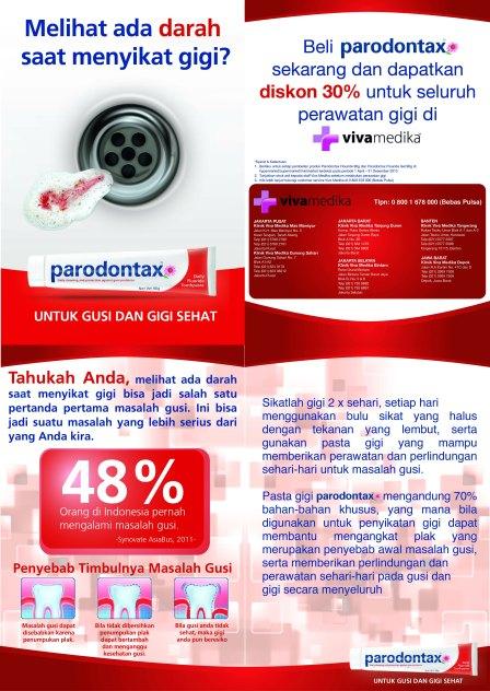 Trade Leaflet Parodontax